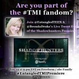 Watch the Shadowhunters' Premiere with Entangled TEEN & Brenda Drake!