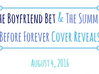Cover Reveals: The Boyfriend Bet by Chris Cannon & The Summer Before Forever by Melissa Chambers!